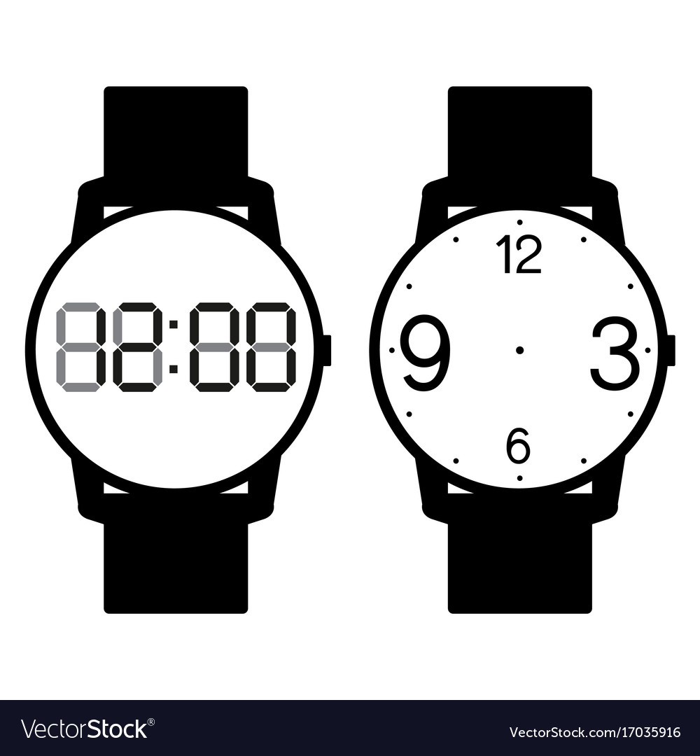 Blank hand watch face on white background