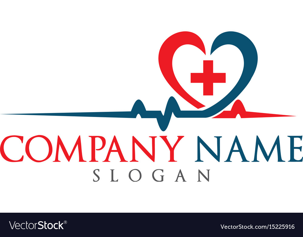 Blood pressure and heart cheering cardiogram logo