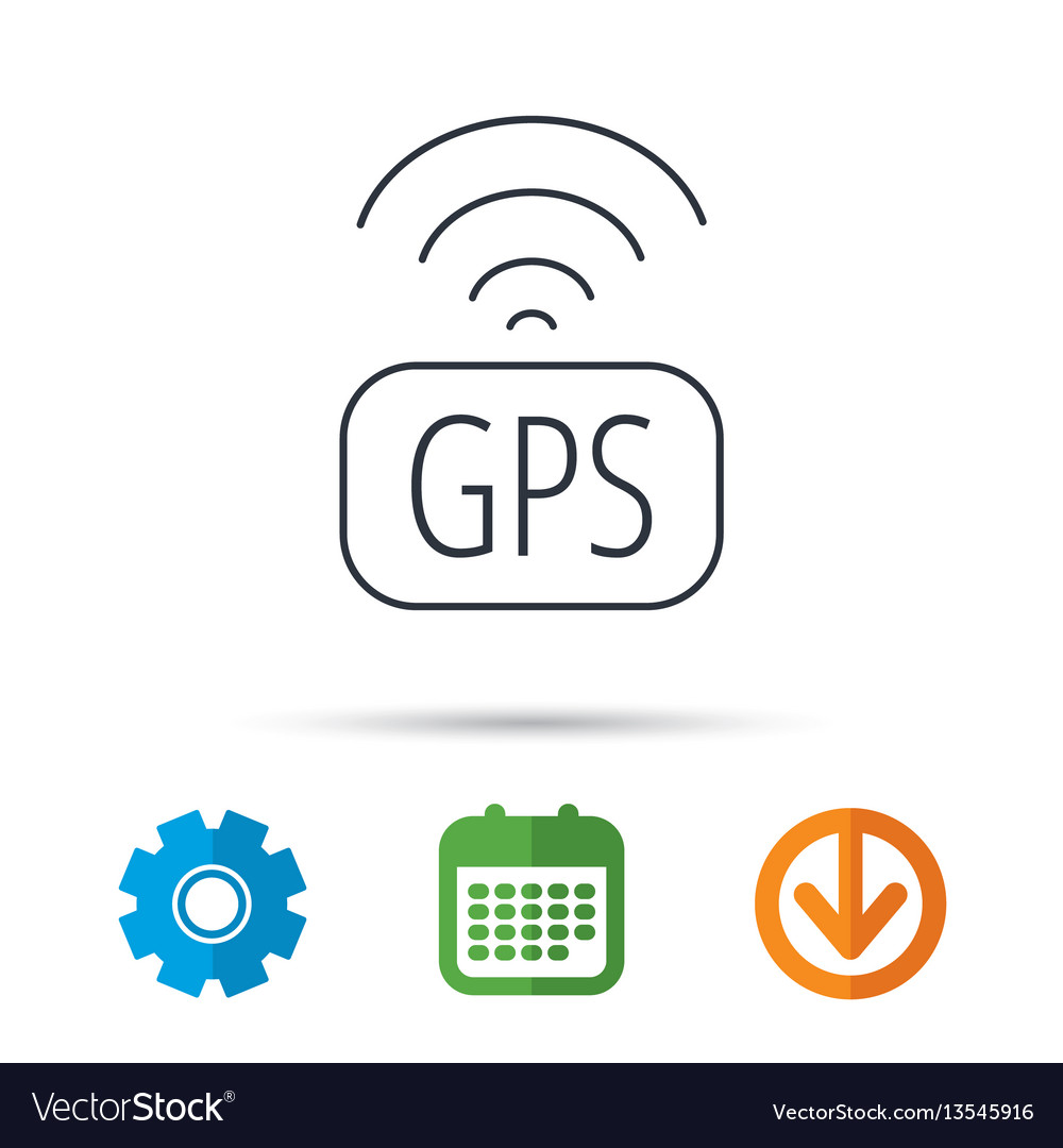 Gps navigation icon map positioning sign