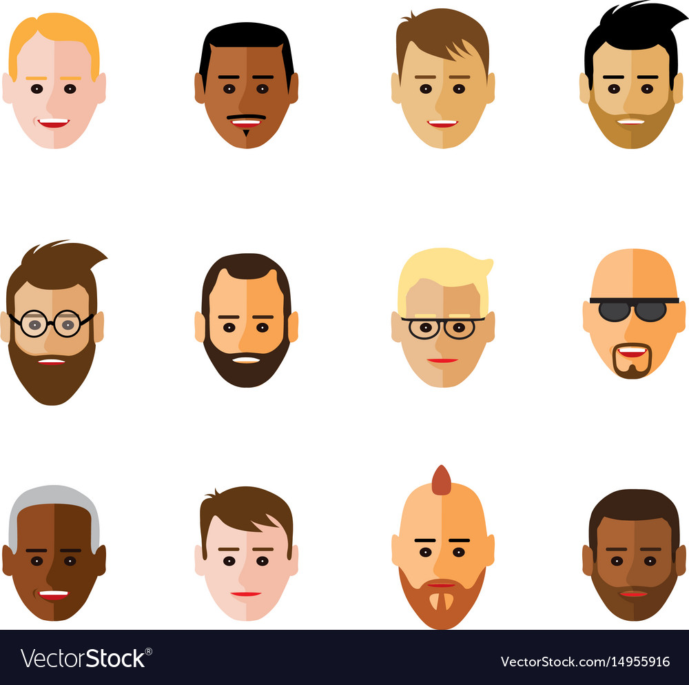 Icon of faces on black background