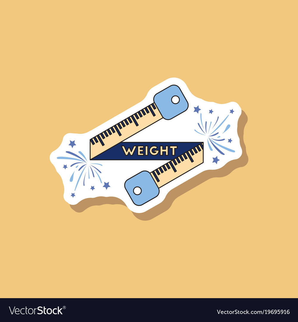 Paper Sticker On Stylish Background Weight Loss Vector Image