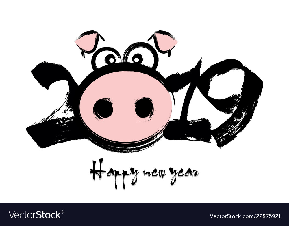 2019 happy chinese new year of the pig