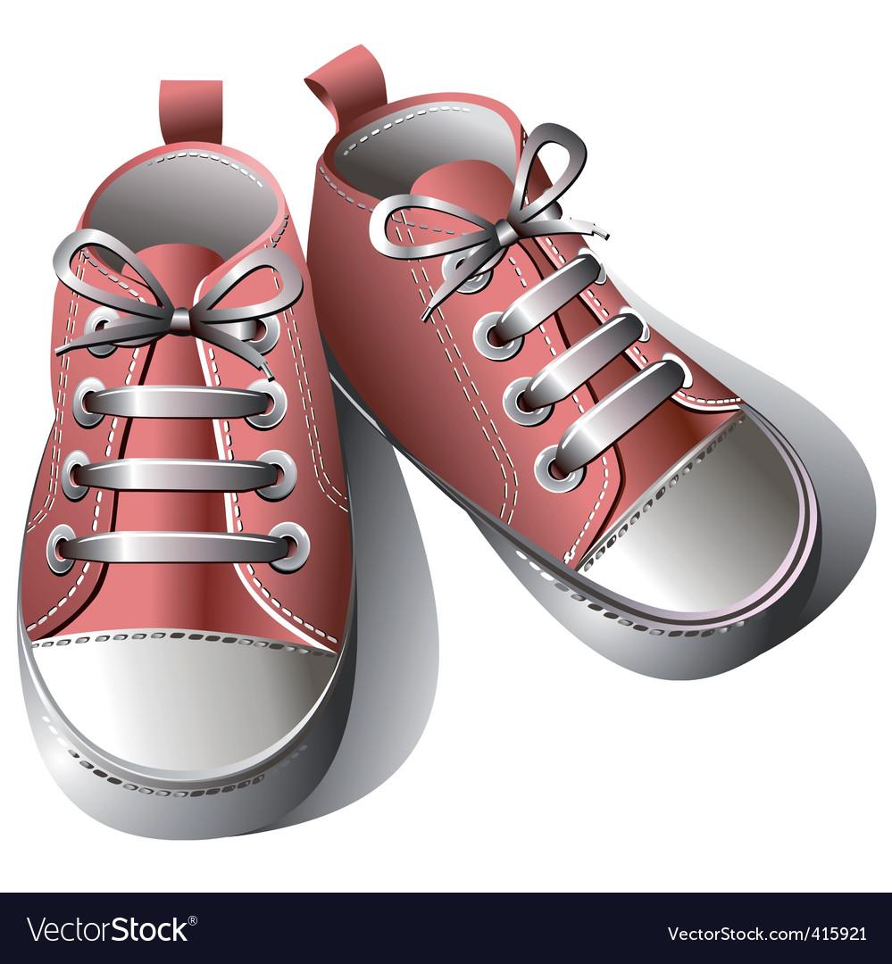 Baby Shoes Royalty Free Vector Image Vectorstock