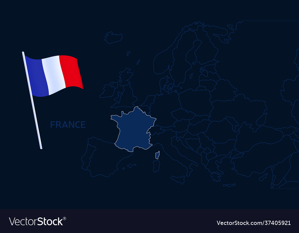 France on europe map high quality map europe