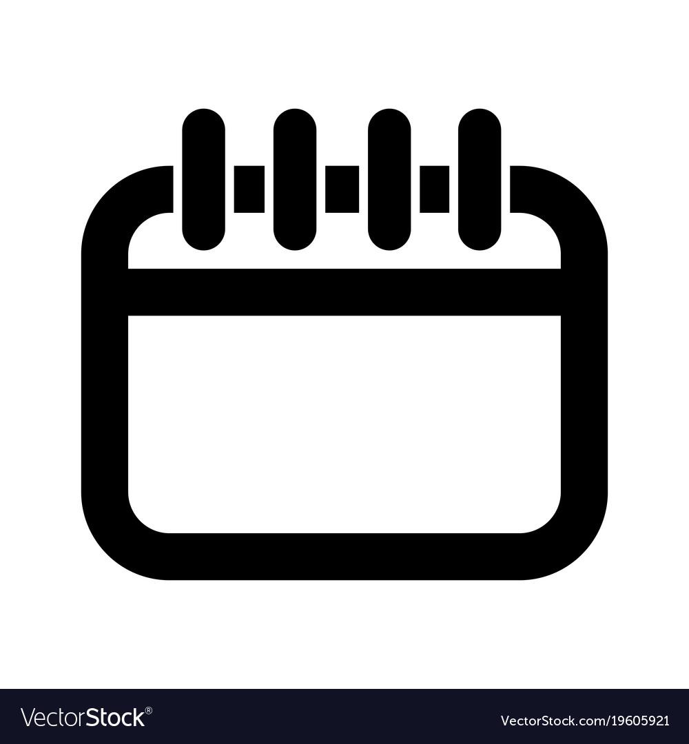 isolated calendar icon royalty free vector image rh vectorstock com google calendar icon vector download calendar icon vector