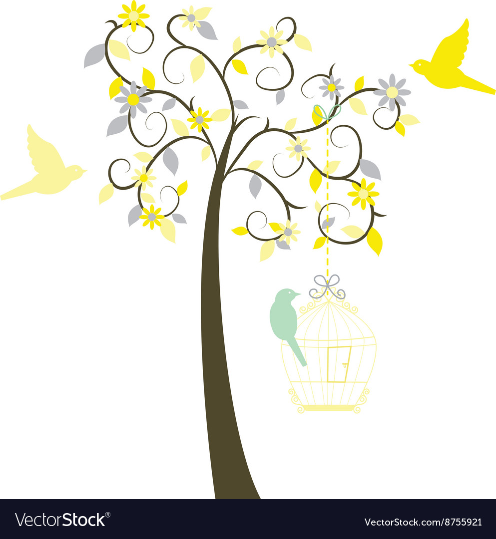 Love Tree with Birds