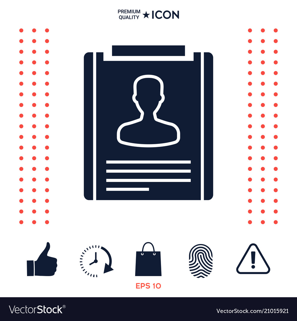 resume icon symbol vector image - Resume Icon