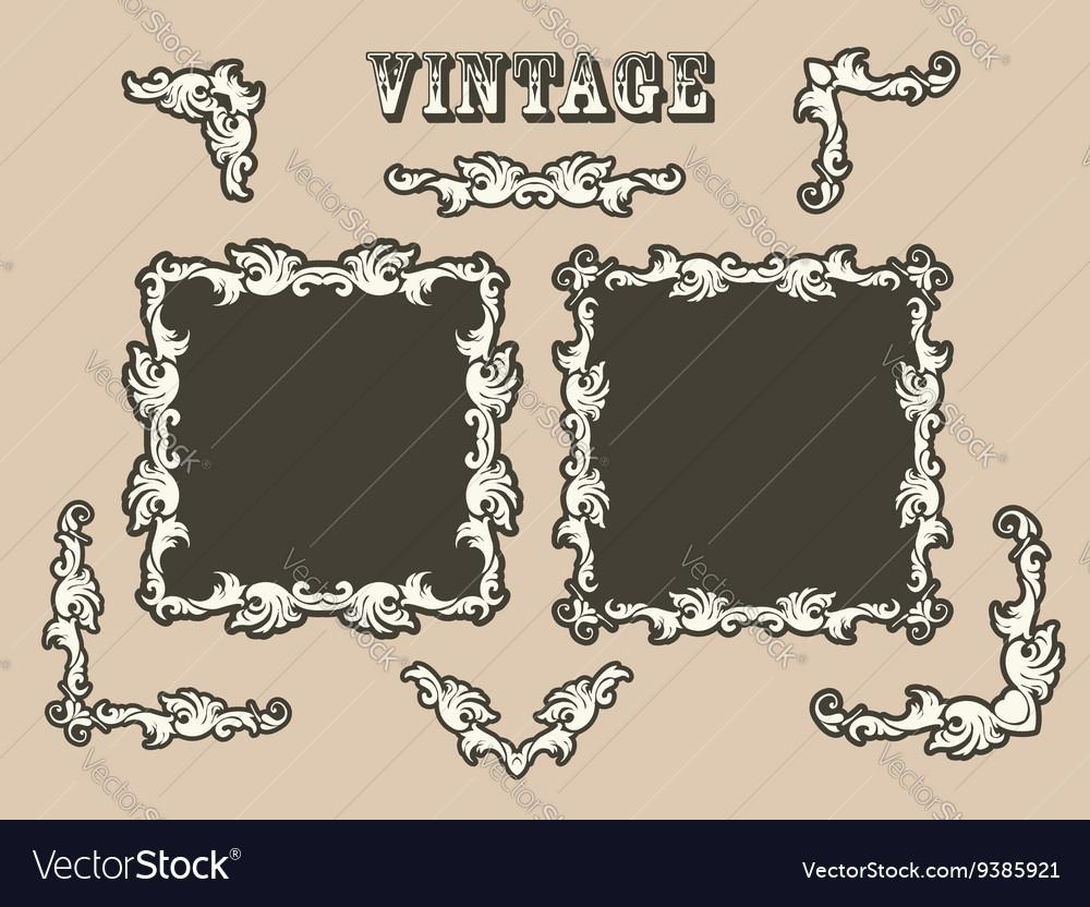 Vintage borders set