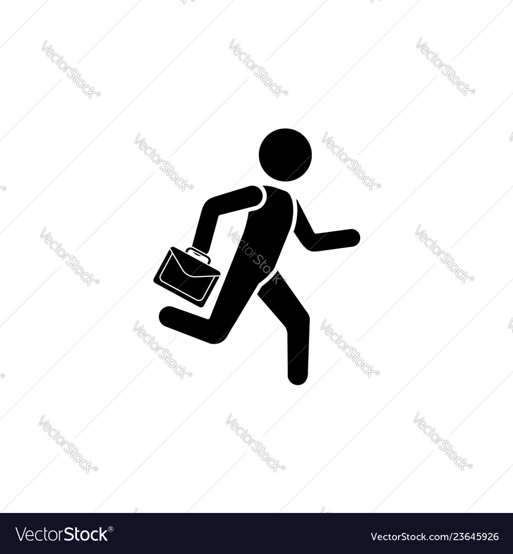 A man is running with a briefcase