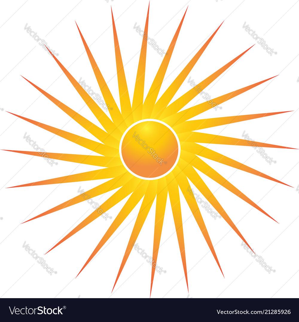 Bright sun symbol
