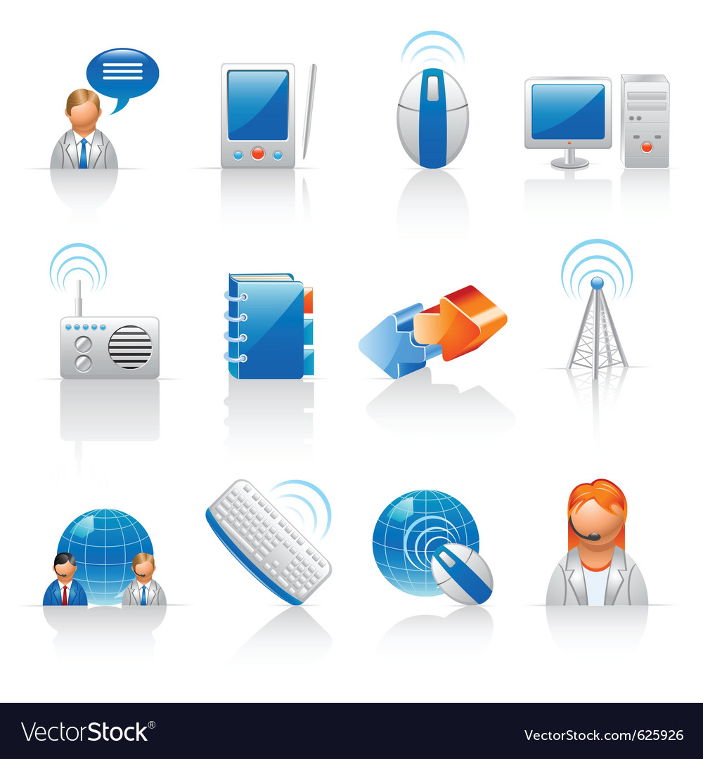 Communication and internet icons