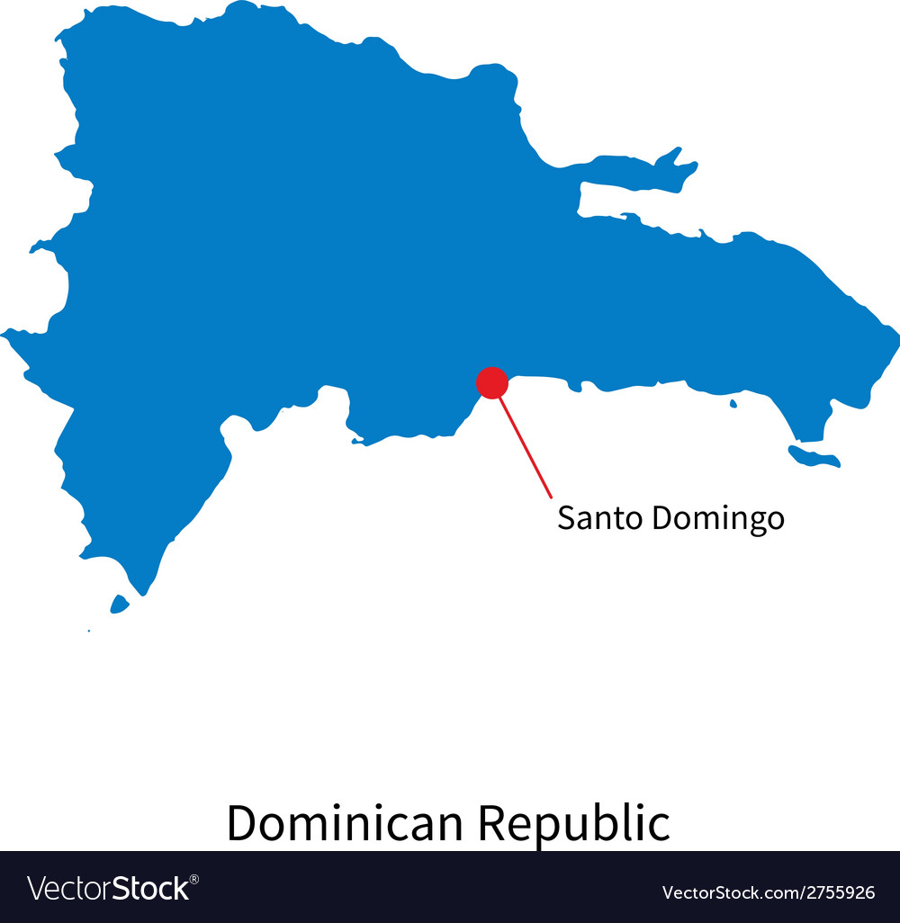 Detailed map of Dominican Republic and capital