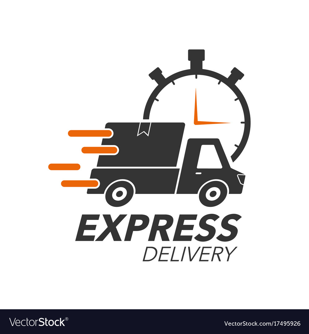 538abecf55844 Express delivery icon concept pickup with stop Vector Image
