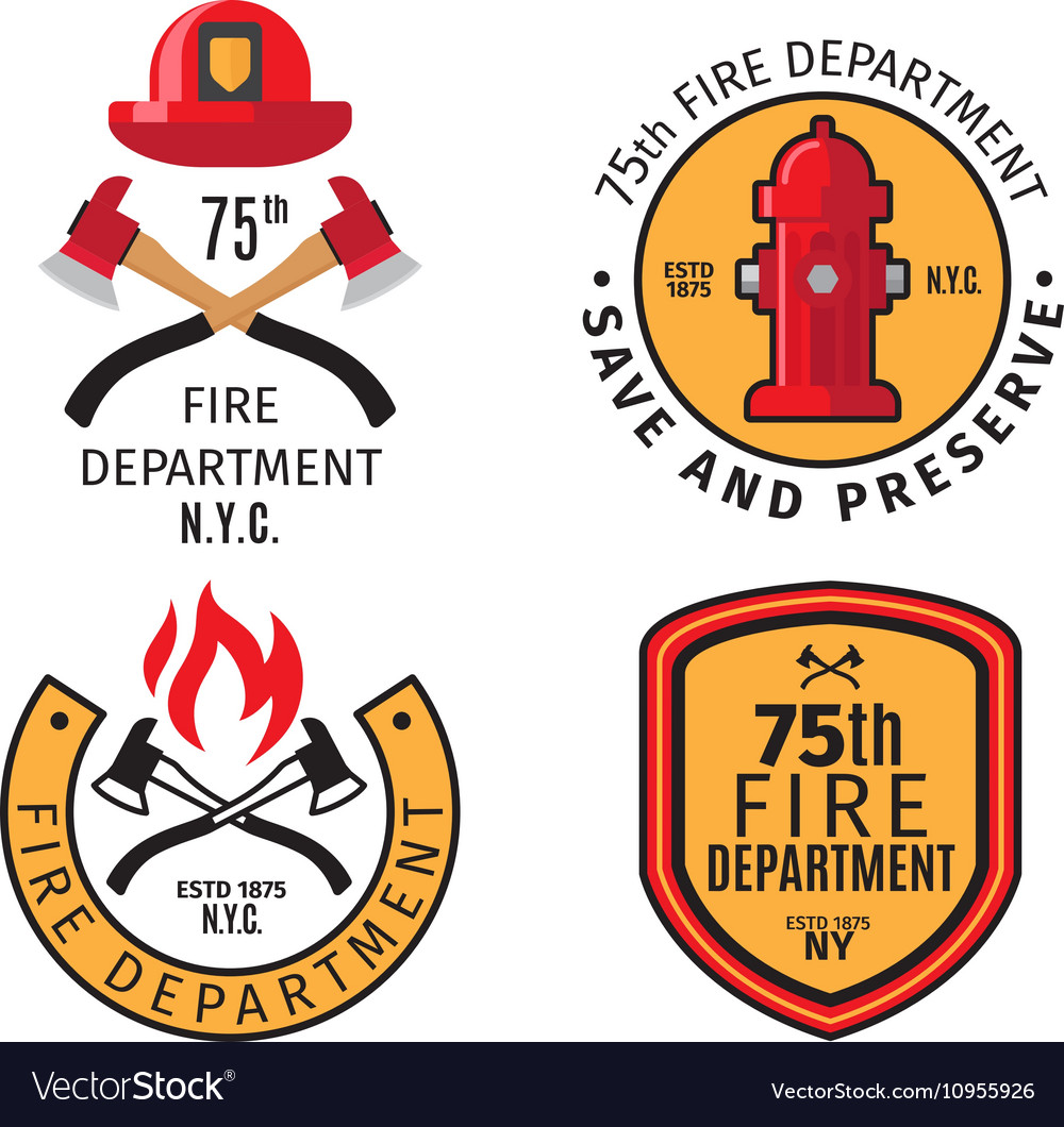 Firefighter emblems and badges