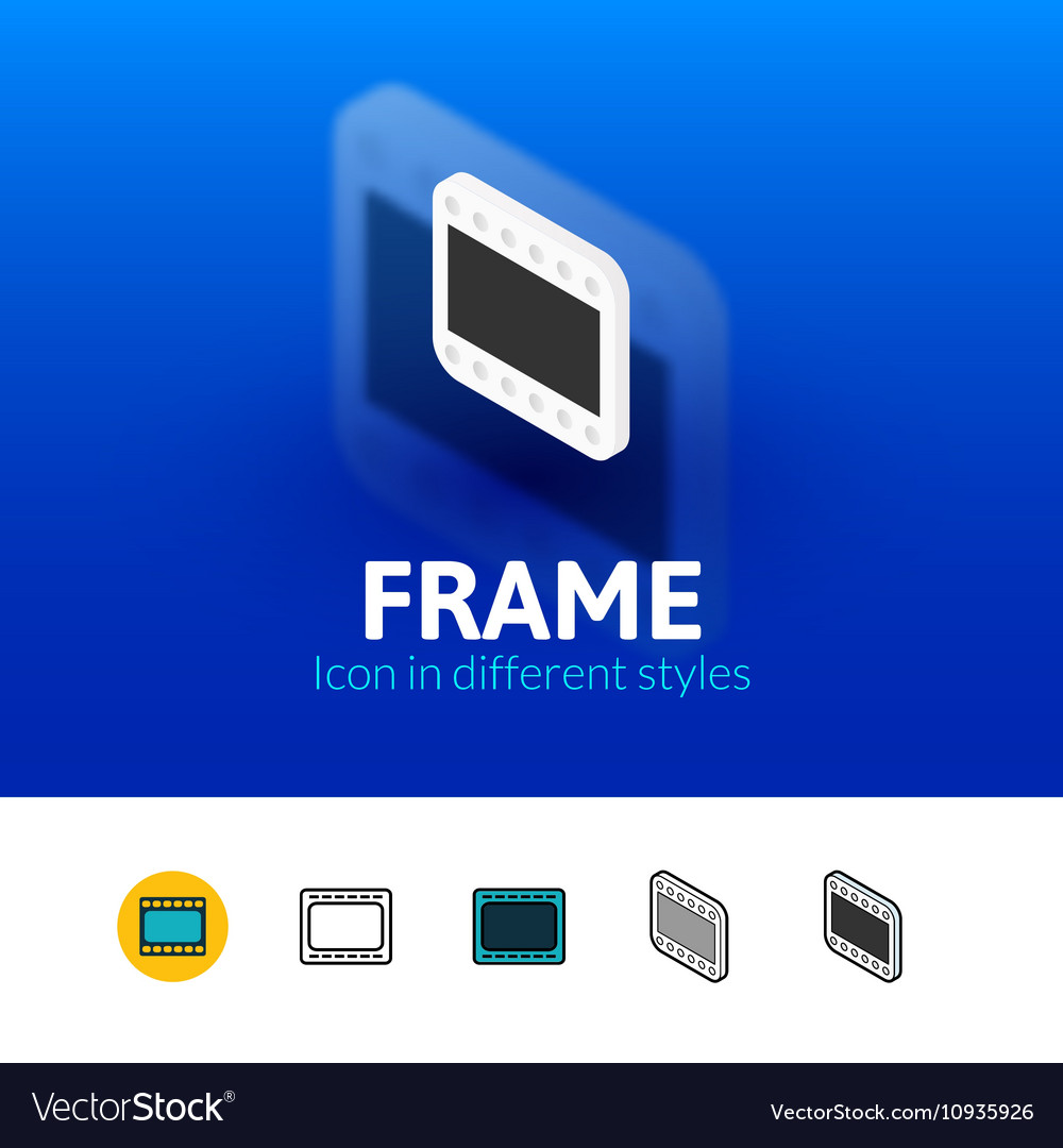 Frame icon in different style