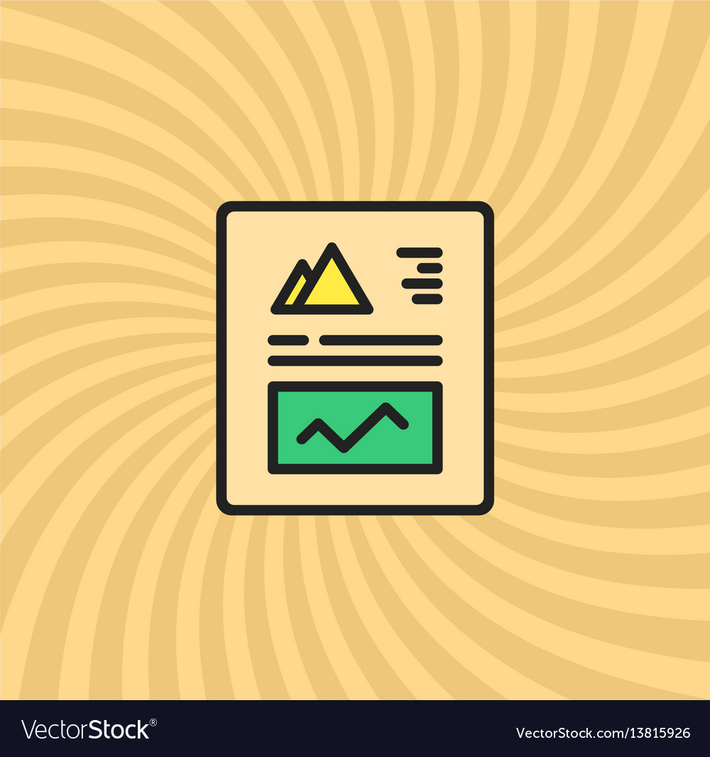 Graphics and charts document icon