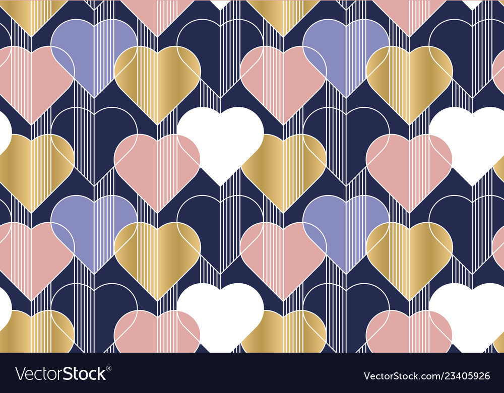 Hearts color seamless pattern