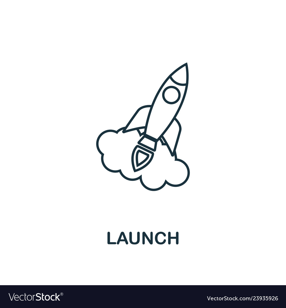 Launch outline icon thin line element from