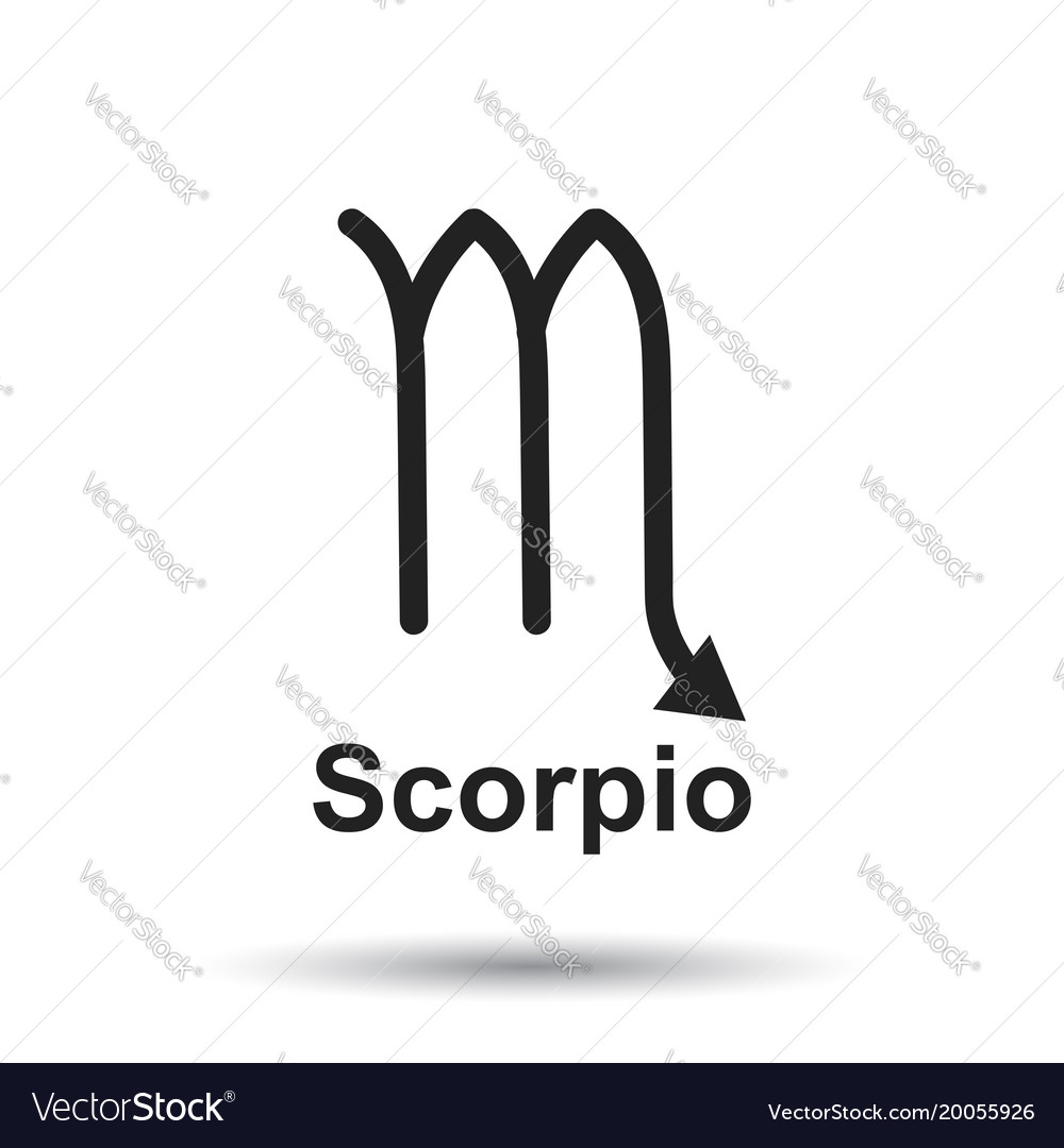 Scorpio Zodiac Sign Flat Astrology On White Vector Image