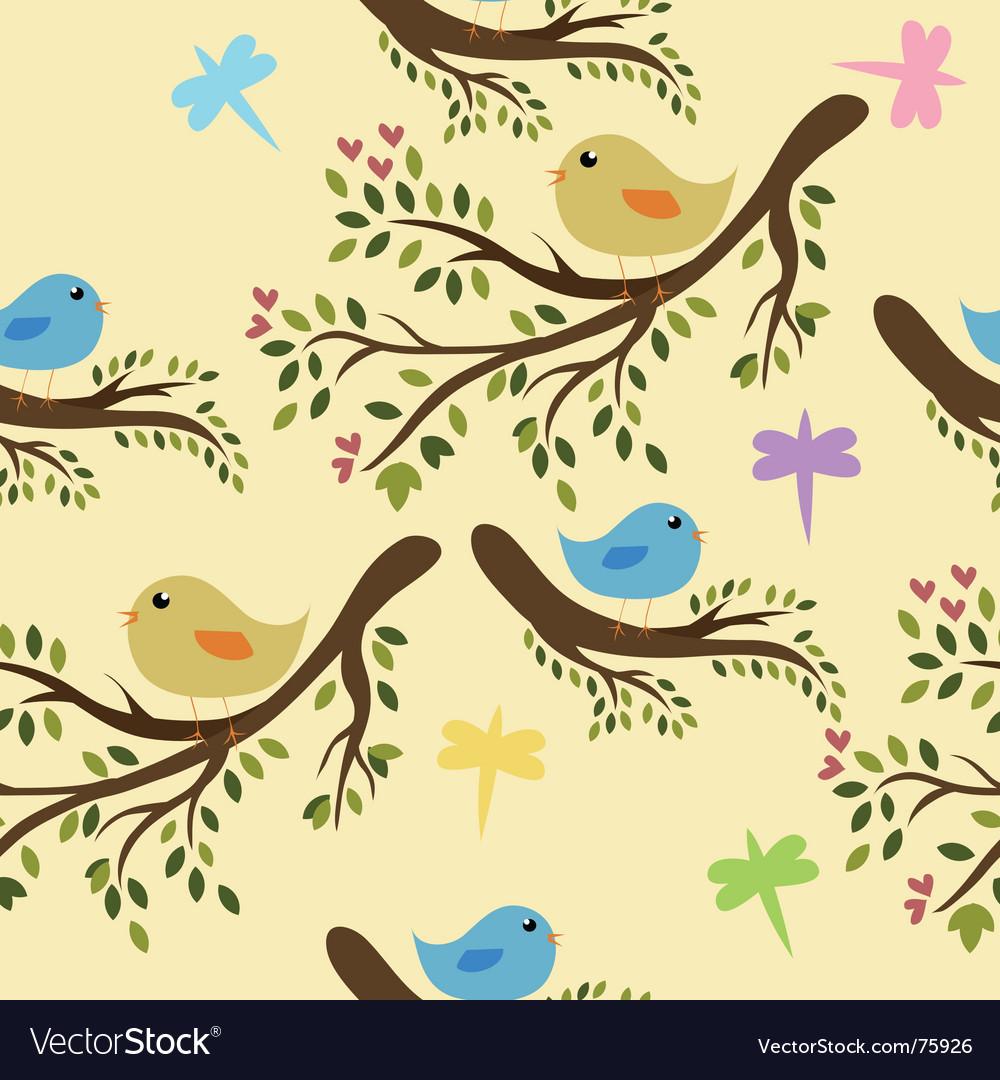 Seamless birds vector image