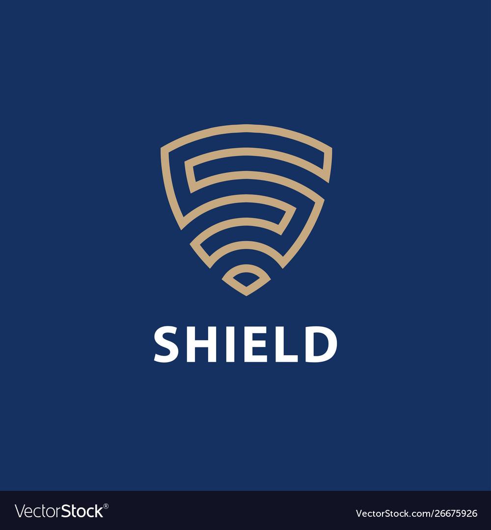 Security agency shield logo design template