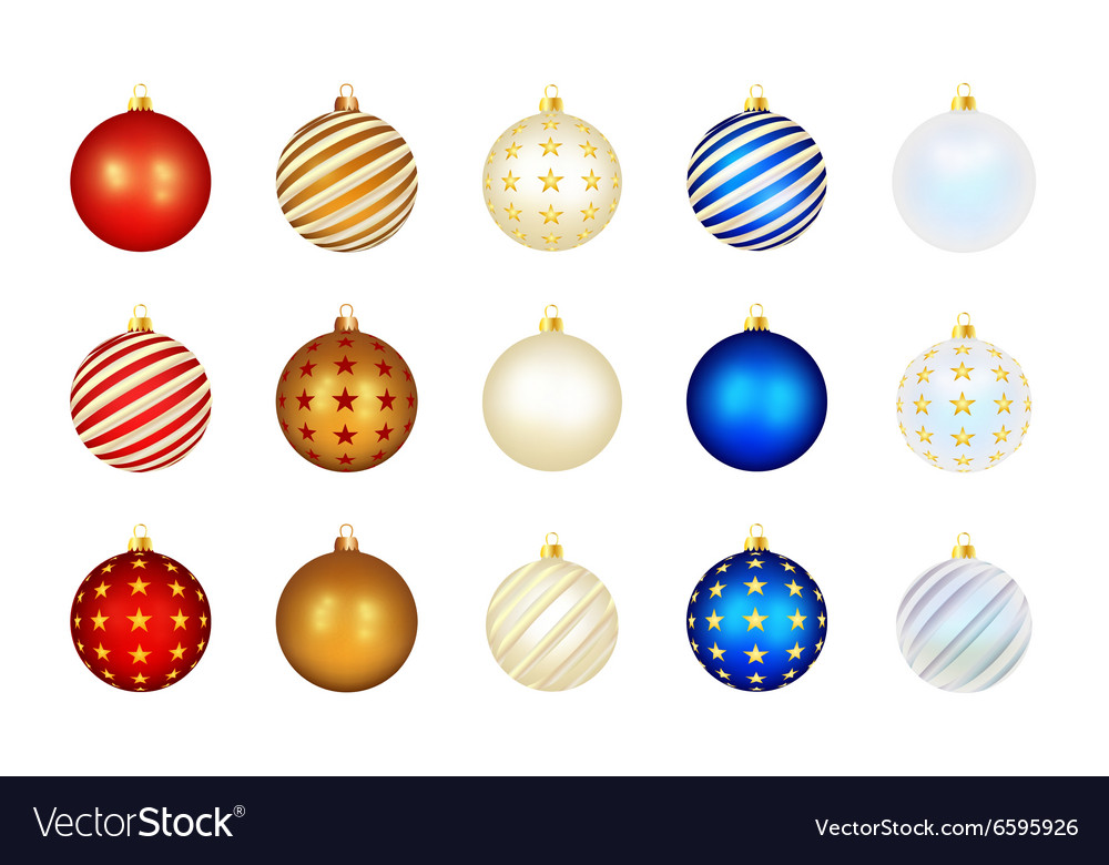 Set of color Xmas balls