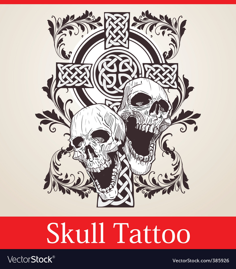 Skull cross tattoo
