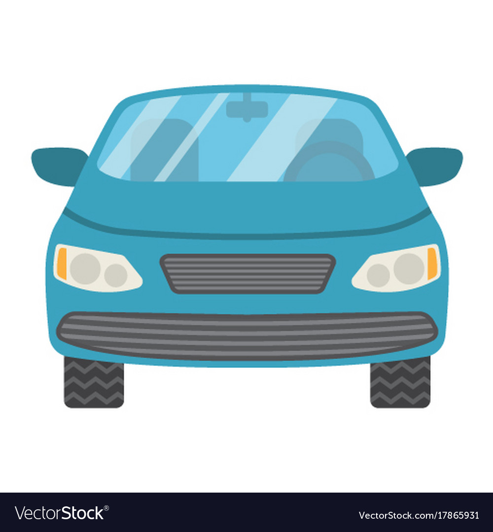Car flat icon transport and automobile sedan vector image