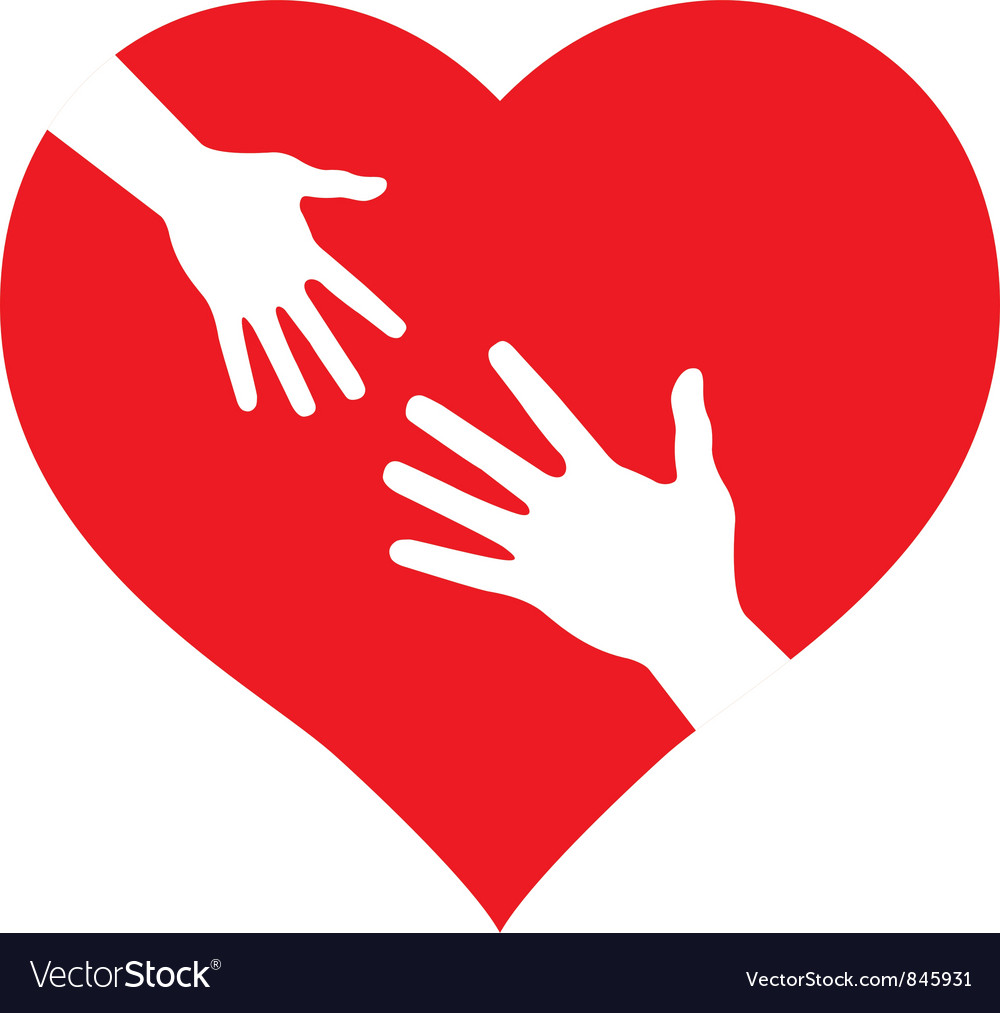 Child s Hand and Adult Hand vector image