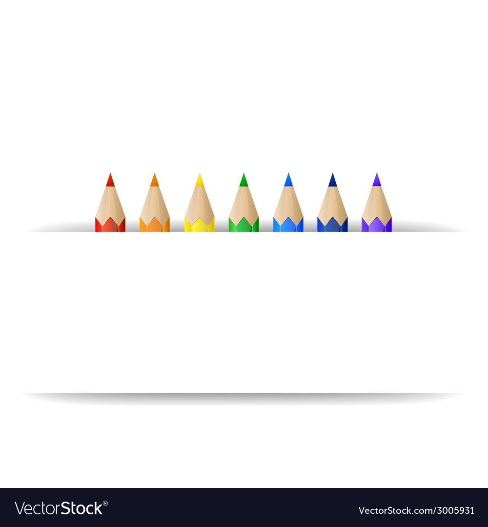 Color pencils and paper banner