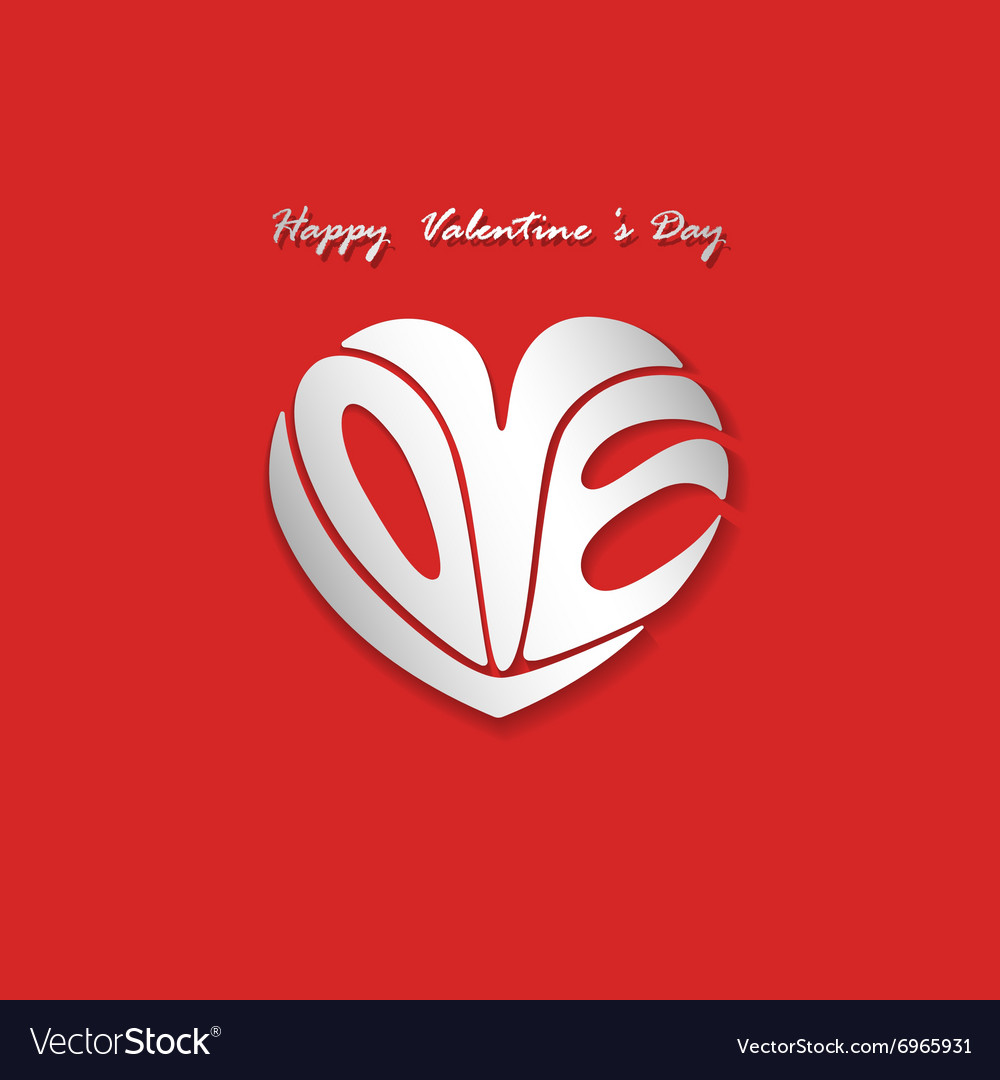 Happy Valentines day lettering background