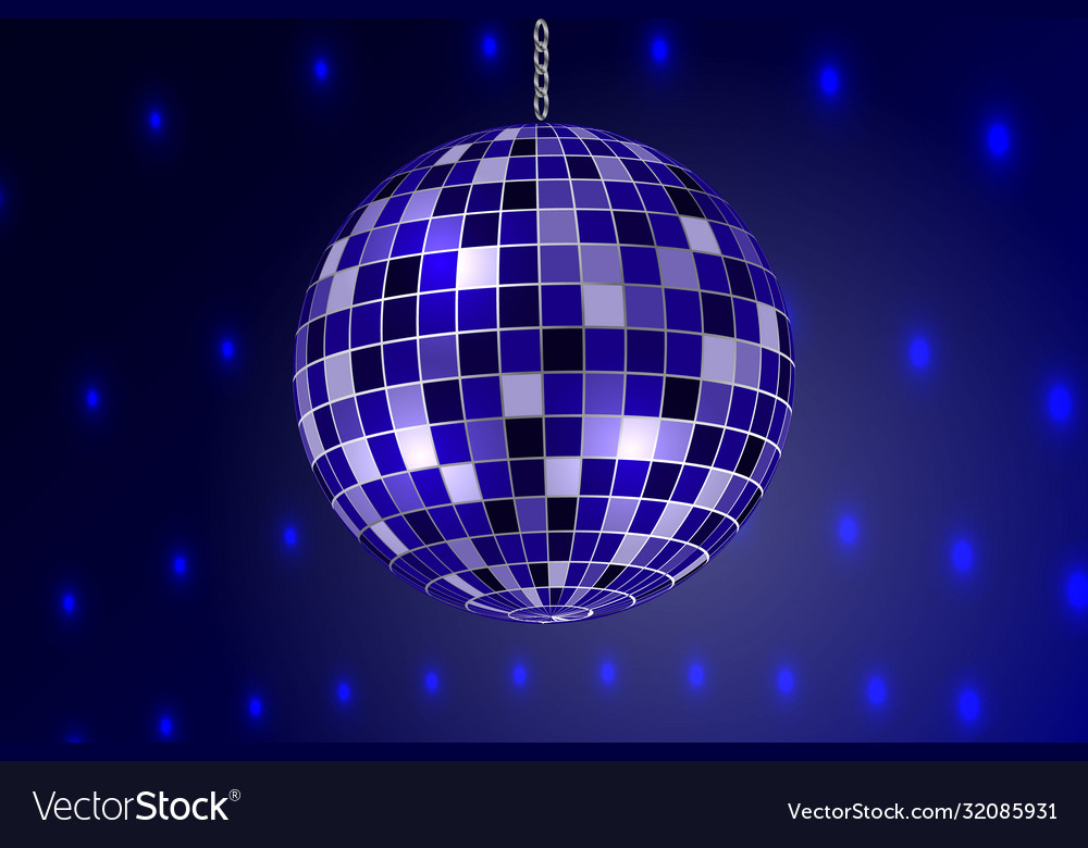 Mirror disco ball isolated template for your