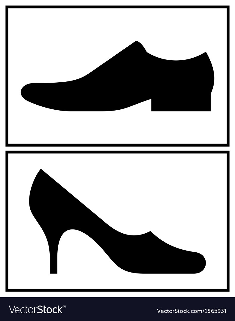 women and men shoe royalty free vector image vectorstock rh vectorstock com vector shoes free shoe print vector