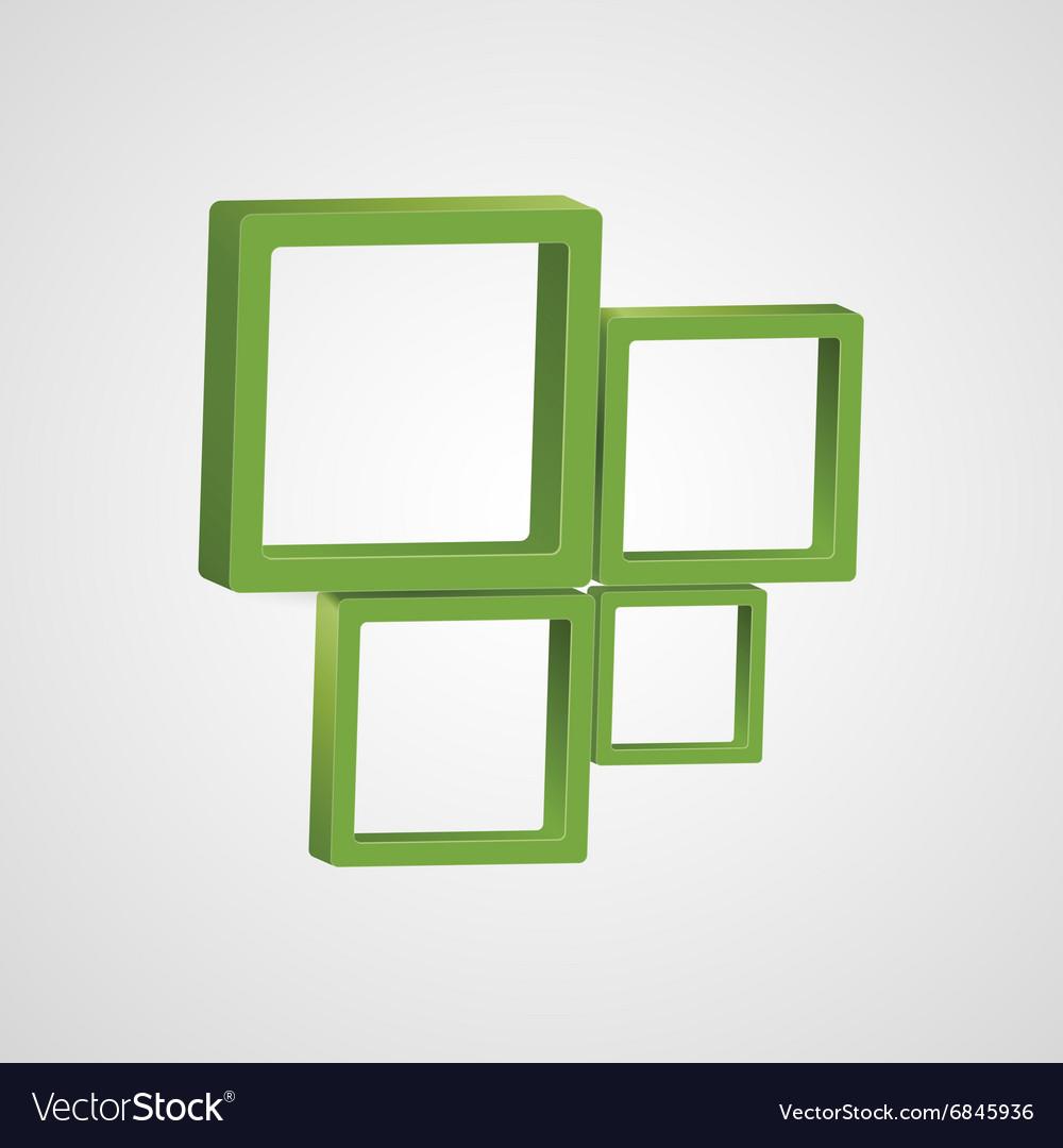 Abstract 3D logo design template Creative icon of vector image