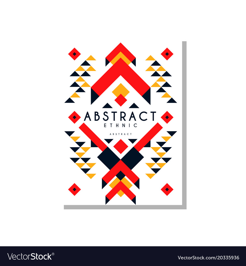 Abstrat ethnic card colorful ethno tribal