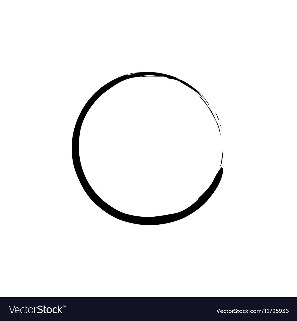 Black Enso Zen Circle vector image