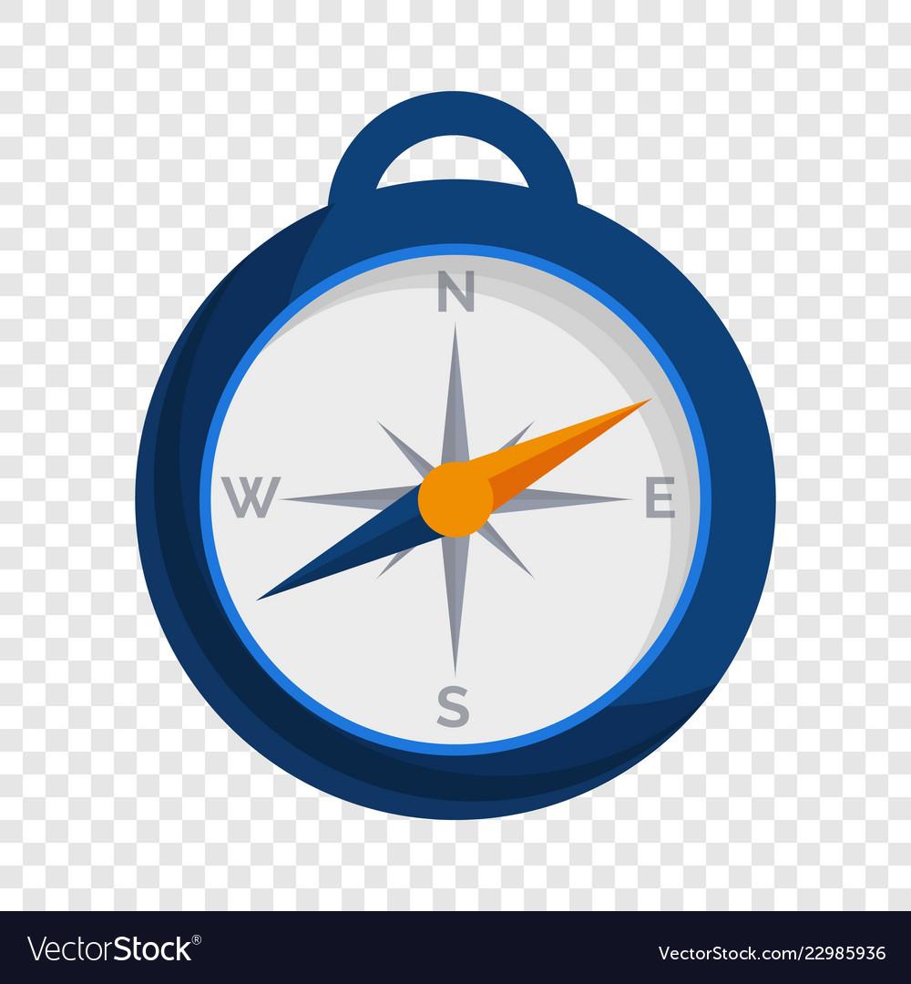Camp compass icon cartoon style