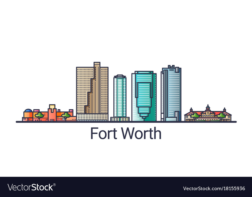 Flat line fort worth banner
