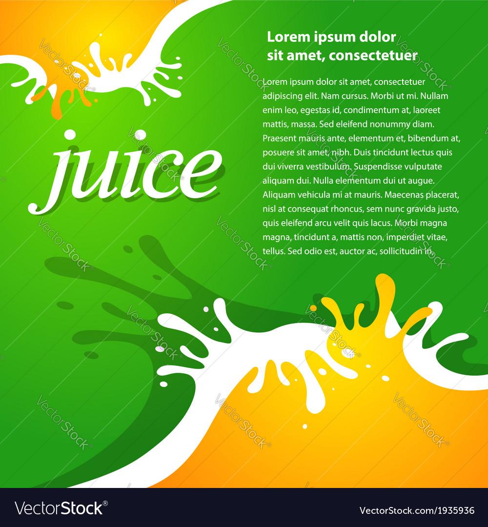 Juice fruit drops liquid orange green brochure