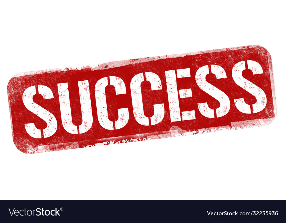 Success grunge rubber stamp