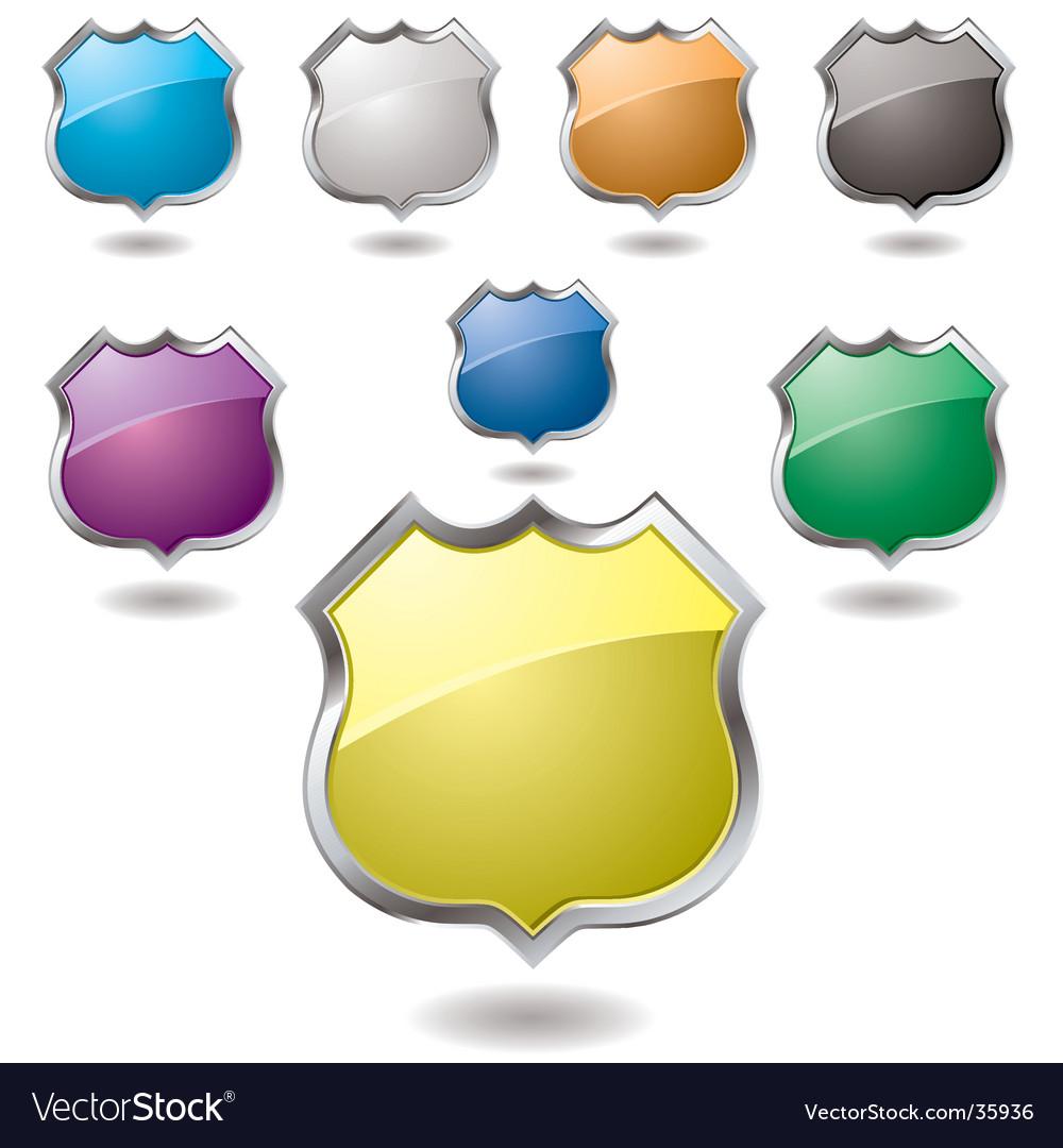 Us shield vector image