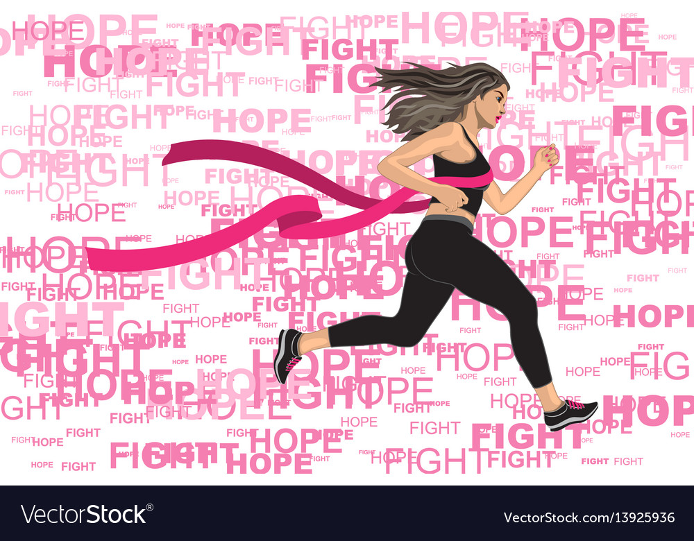 Winner running woman