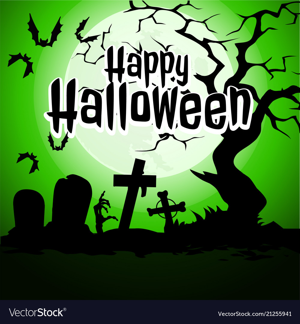 A poster on the theme of the halloween holiday