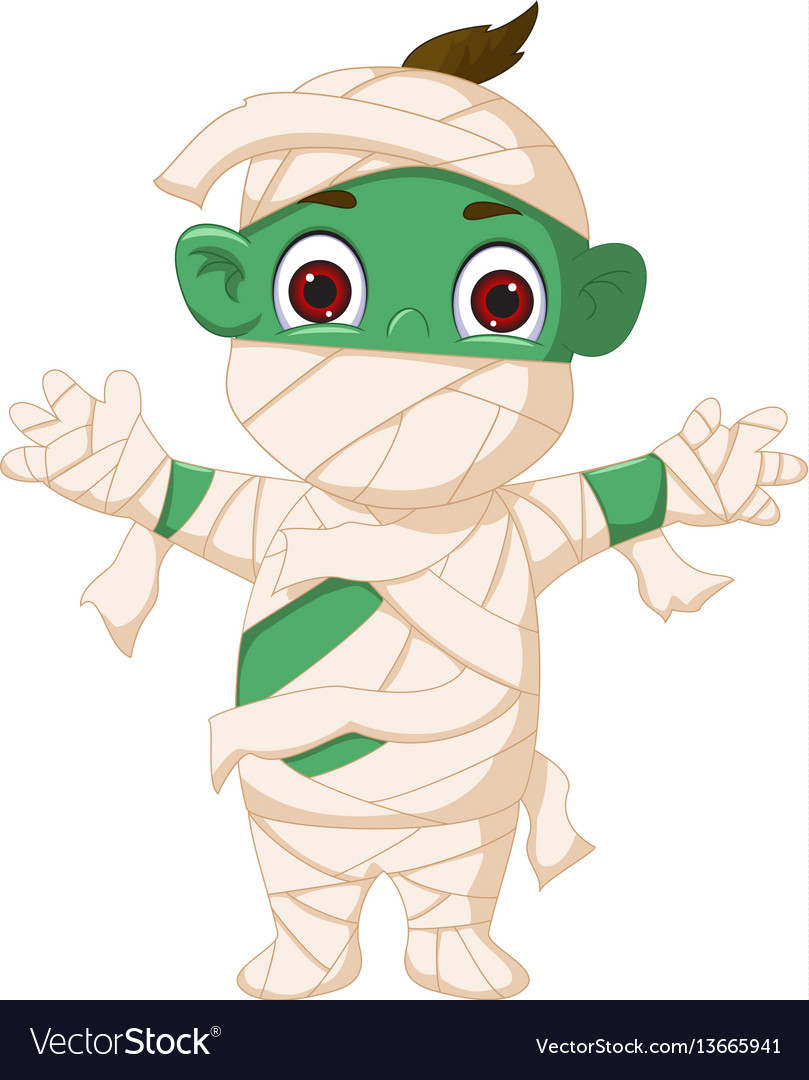 Cartoon mummy standing