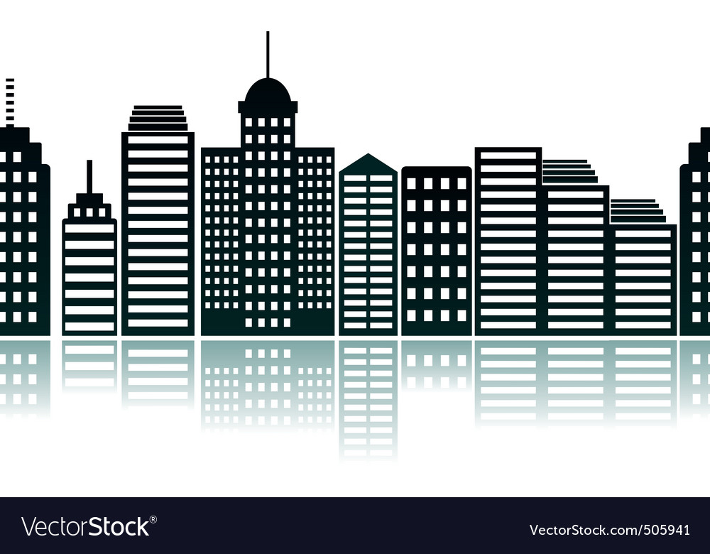 cityscape silhouette royalty free vector image rh vectorstock com cityscape vector icon cityscape vector icon