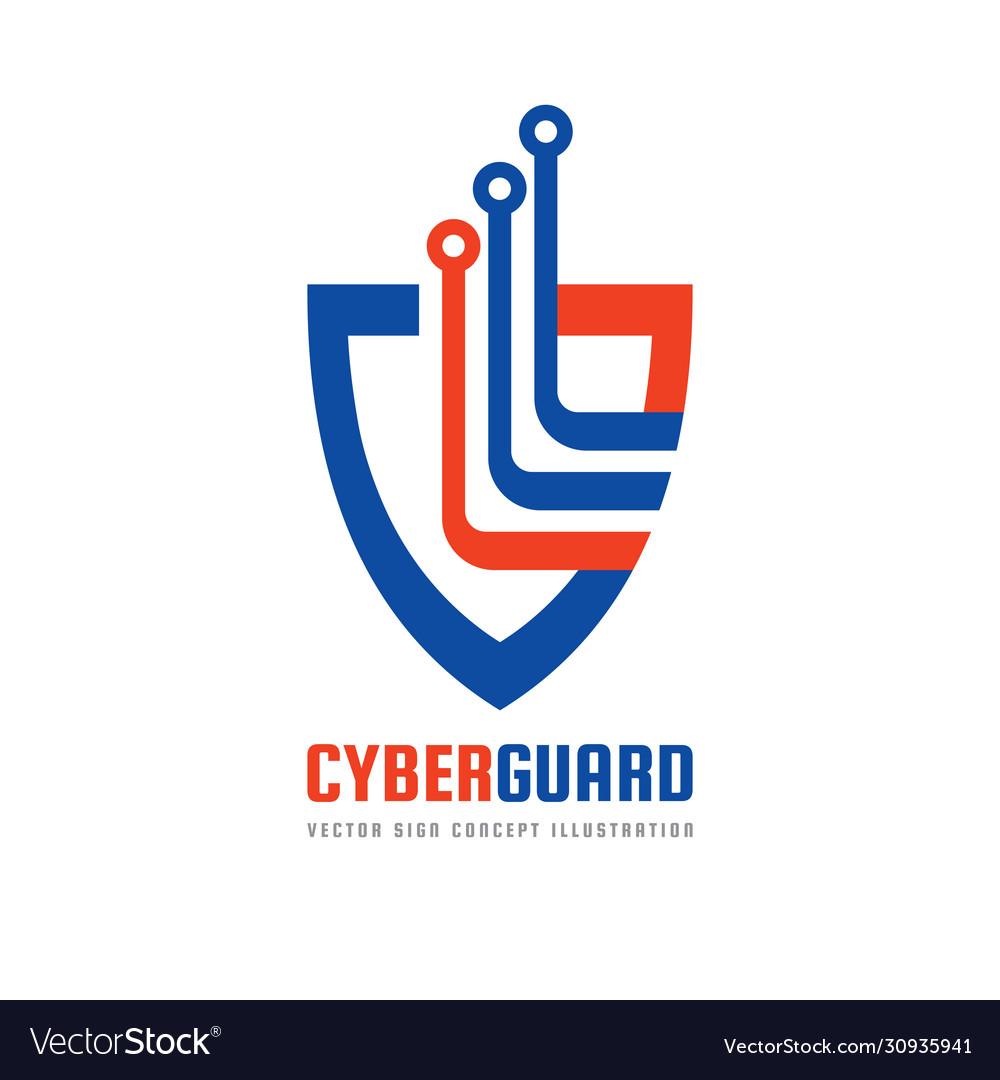 Cyber guard - logo template concept