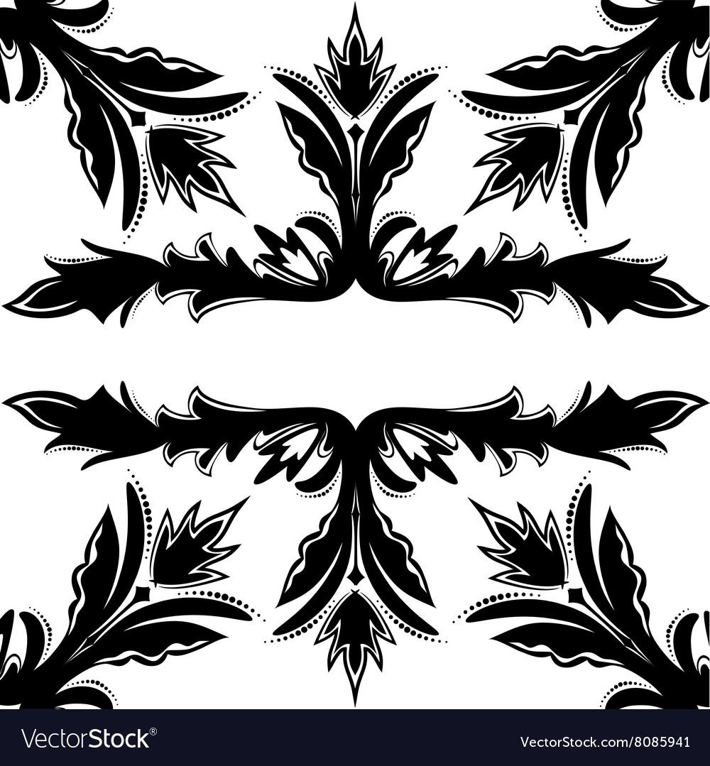 Decorative seamless black-and-white texture