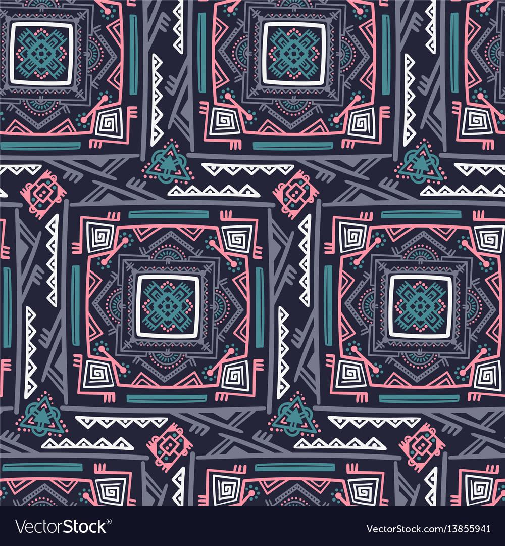 Handdrawn ethnic ornamental seamless