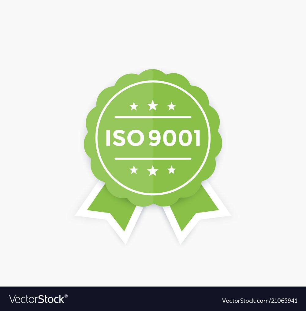 Iso 9001 badge label