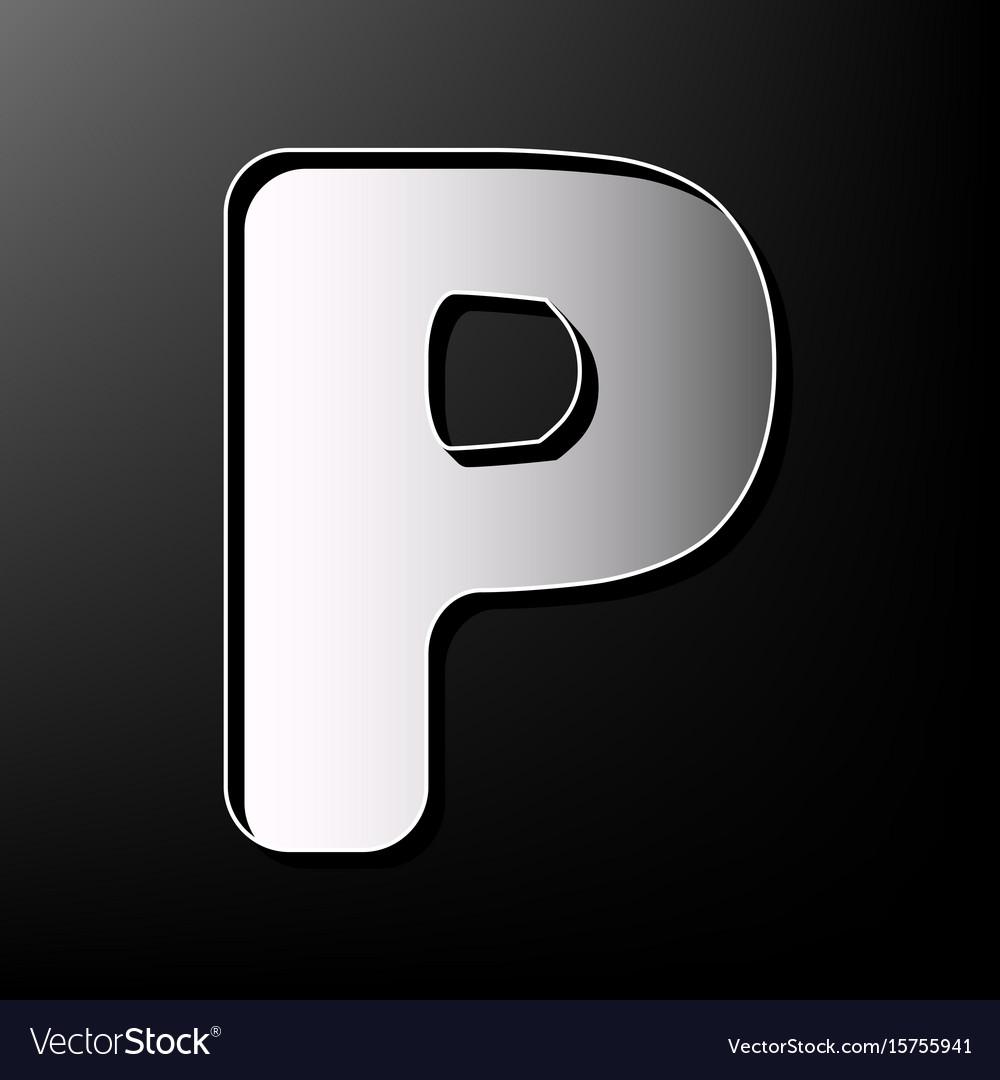 Letter p sign design template element